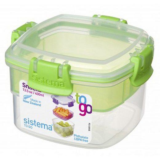 sistema Aufbewahrungsbox »Aufbewahrungsbox Snack To Go 2er Set blau, grün«, Kunststoff Lebensmittelsicher