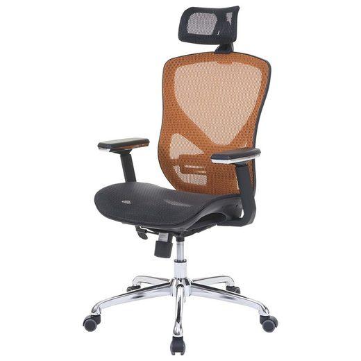 MCW Schreibtischstuhl »MCW-A61«, Luftzirkulation, Lendenwirbelstütze anpassbar, Höhenverstellbare Rückenlehne