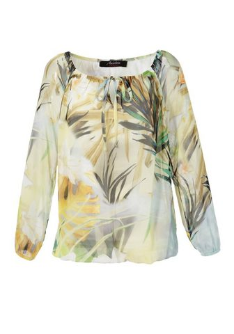 Aniston CASUAL Carmenbluse su Tropical-Print - NEUE K...