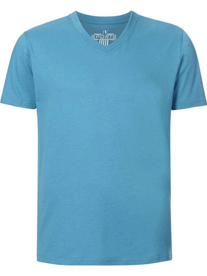 Jan Vanderstorm T-Shirt »OSMO« (2er-Pack) Basic Shirt, legere Passform