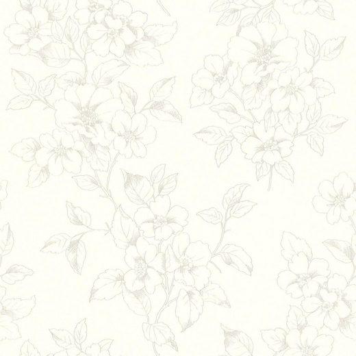 Rasch Vliestapete »Ylvie«, glatt, gemustert, geblümt, (1 St)