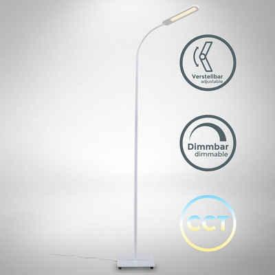 B.K.Licht Stehlampe, LED Stehlampe weiß dimmbar, inkl. 8W 600lm LED Platine, Stehleuchte, CCT 3000K - 6500K warmweiß - kaltweiß, Memory & Touch Funktion