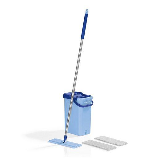 Reinigungsbürsten-Set, CLEANmaxx, 2 Kammern-System in blau
