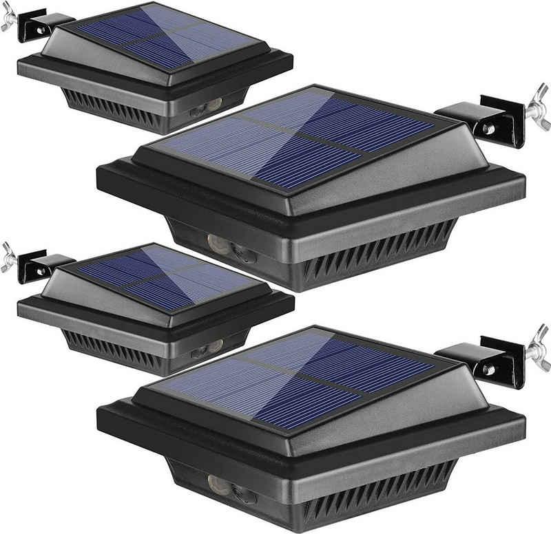Home safety Dachrinnenleuchte »4Stk.40LEDs Dachrinne Solarleuchte mit Bewegungsmelder für Außen Warmweiß Licht«