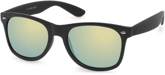 styleBREAKER Sonnenbrille »Verspiegelte Nerd Sonnenbrille« Verspiegelt