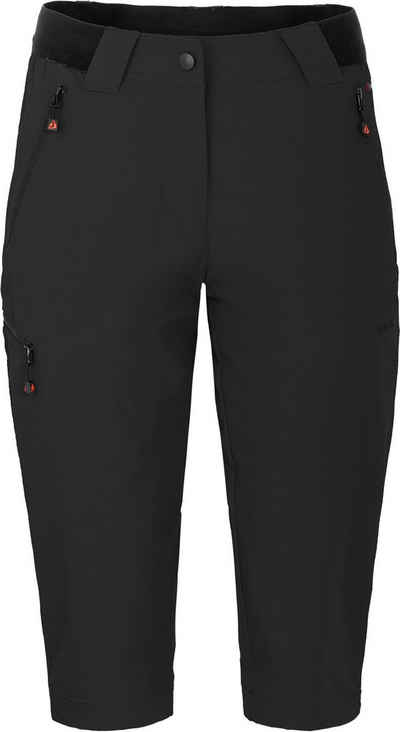 Bergson Outdoorhose »VIDAA COMFORT Capri (slim)« leichte 3/4 Damen Wanderhose, Normalgrößen, schwarz