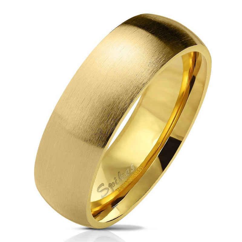 BUNGSA Fingerring »Ring klassisch matt Silber aus Edelstahl Unisex« (inkl. Schmuckbeutel aus Organza), Damen Herren Verlobung Ehering Valentinstag