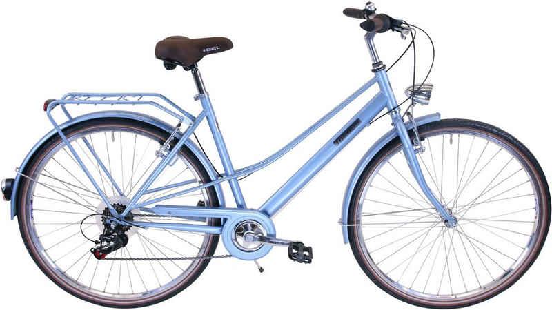 FASHION LINE Urbanbike, 6 Gang Shimano TOURNEY TY 300 Schaltwerk, Kettenschaltung