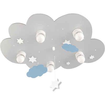 Waldi-Leuchten Deckenleuchten »Deckenleuchte Wolke grau mit Wolken und Sternen,«