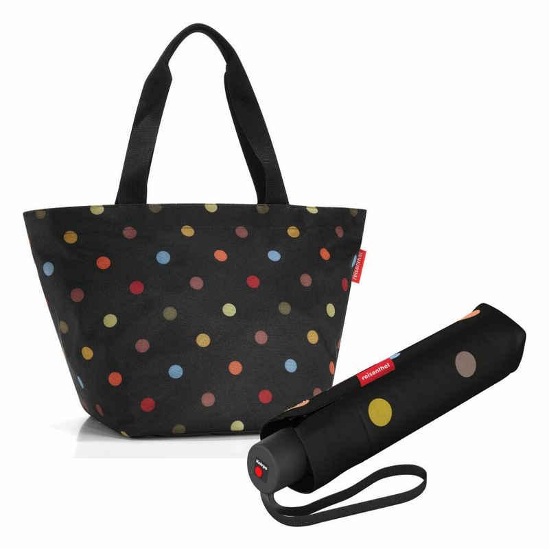 REISENTHEL® Shopper »shopper M Set Dots« (Set, 2-tlg), mit umbrella pocket classic