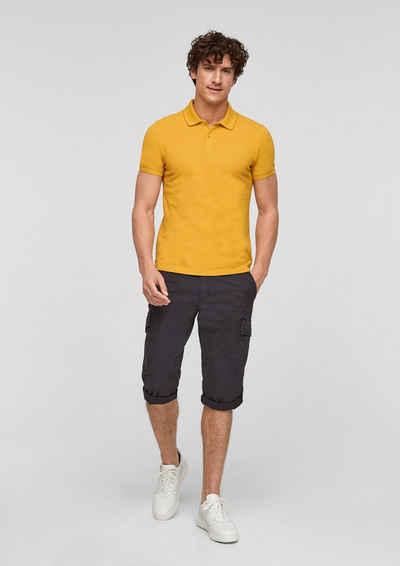 s.Oliver Kurzarmshirt »Poloshirt aus Baumwollpiqué« (1-tlg) Logo
