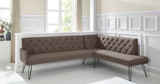 exxpo - sofa fashion Eckbank »Doppio«, Frei im Raum stellbar