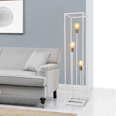 lux.pro Stehlampe, »Groningen« Stehleuchte Metall weiß