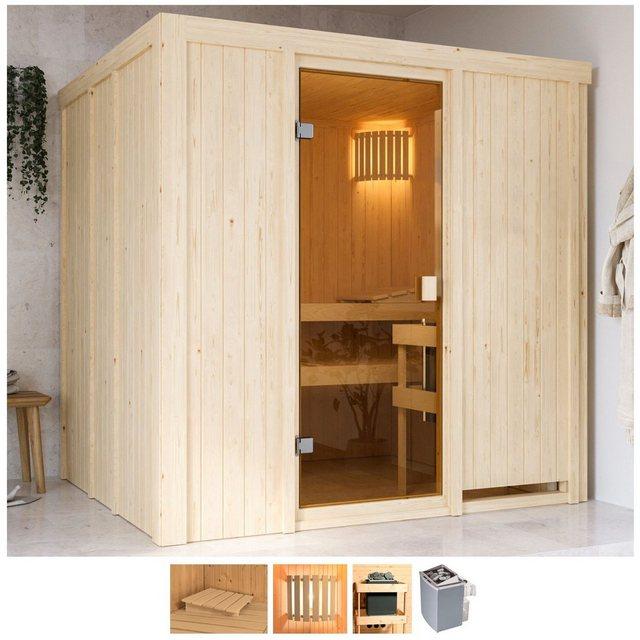 Saunen und Zubehör - Karibu Sauna »Gelsa«, BxTxH 196 x 178 x 198 cm, 68 mm, 4,5 kW Ofen mit int. Steuerung  - Onlineshop OTTO