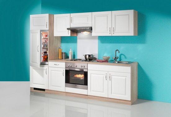 wiho Küchen Küchenzeile »Tilda«, mit E-Geräten, mit Glaskeramik-Kochfeld, Breite 270 cm