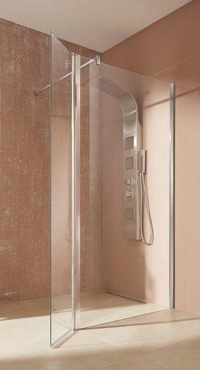 welltime Walk-in-Dusche »Mailand«, Einscheibensicherheitsglas, Breite 100 cm, Duschabtrennung