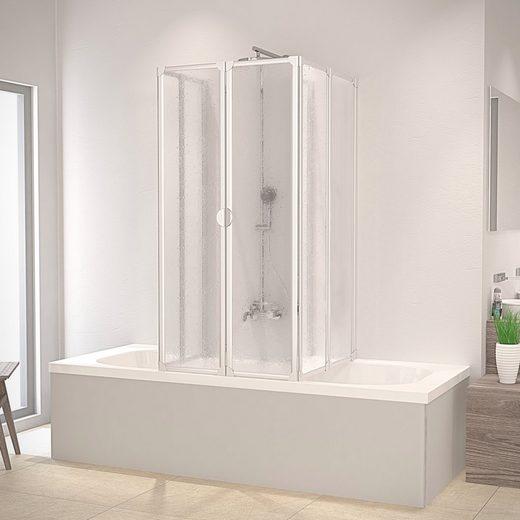 Schulte Badewannenaufsatz, BxT: 104x80 cm, Kunststoff, nach Gebrauch flach an die Wand klappbar, Montage ohne Bohren
