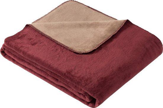Wohndecke »Jacquard Decke Dublin«, IBENA, praktische Wendedecke