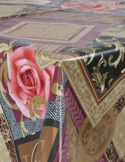 Aspero Tischläufer »Tischdecken für Innen und Außen«, Wetterfestes Wachstuch - Gartentischdecke