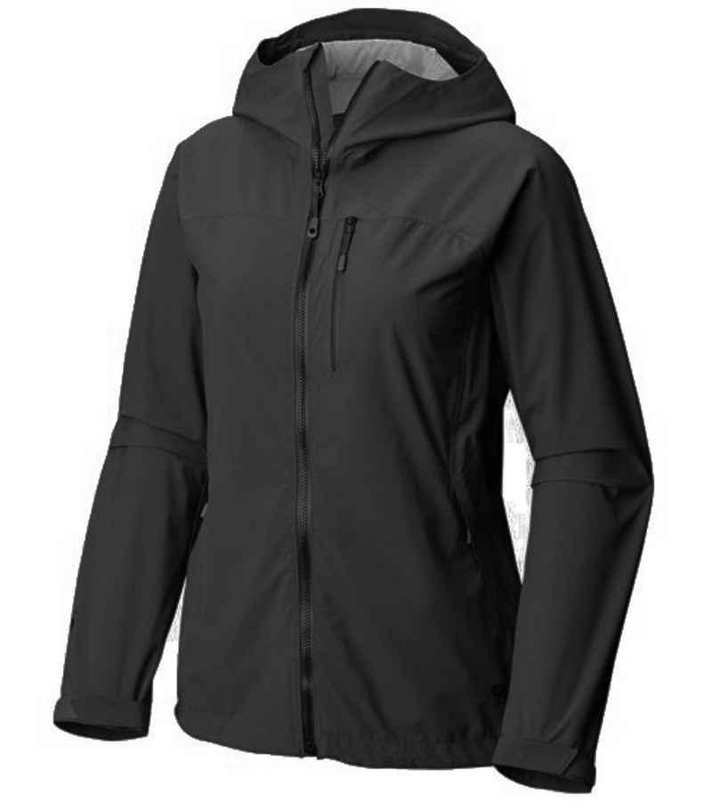 Mountain Hardwear Outdoorjacke »MOUNTAIN HARDWEAR Stretch Ozonic Outdoor Regen-Jacke wetterfeste Damen Wind-Jacke Freizeit-Jacke Schwarz«