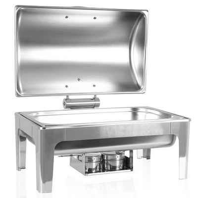 Zelsius Warmhalteplatte Zelsius Premium Chafing Dish mit abnehmbaren, hydraulischen Deckel