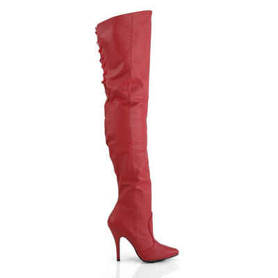 Pleaser »Pleaser LEGEND-8899 Leder Overknee Stiefel Rot« Overkneestiefel aus echtem Leder