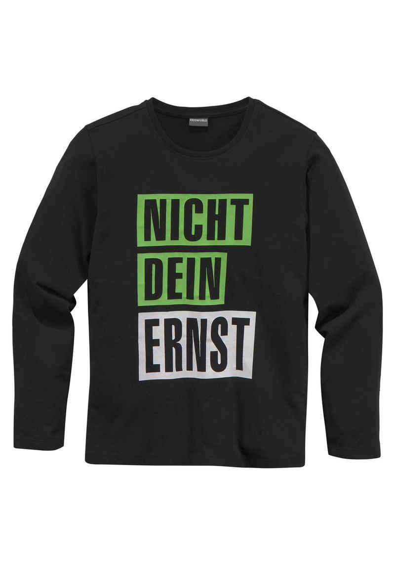 KIDSWORLD Langarmshirt »NICHT DEIN ERNST«