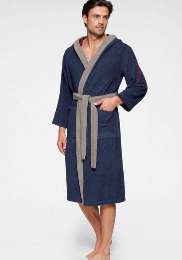 Unisex-Bademantel »Henry«, KangaROOS, mit Kimonokragen und Logostickerei