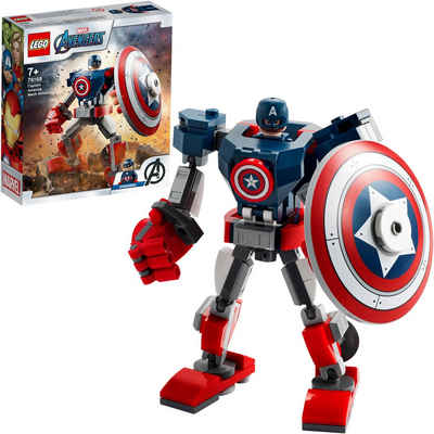 LEGO® Konstruktionsspielsteine »Captain America Mech (76168), LEGO® Marvel Avengers«, (121 St)