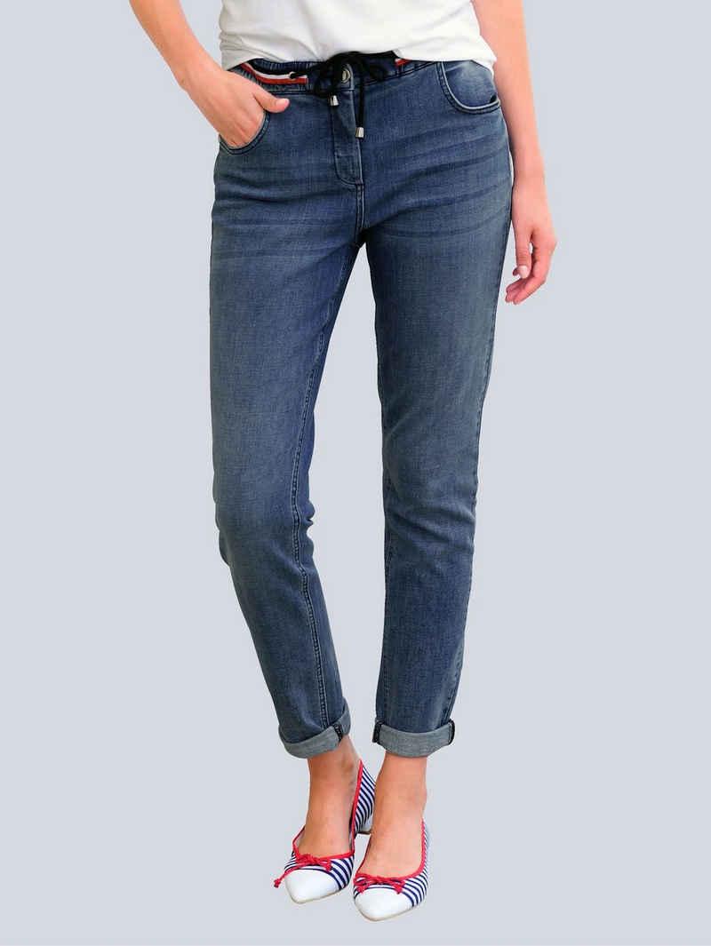 Alba Moda Comfort-fit-Jeans in modischer Joggpants-Form