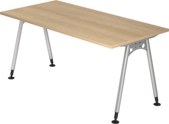 bümö Schreibtisch »OM-AS16«, 160x80 cm höhenverstellbar bümö® Premium Qualität