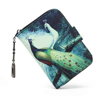 TAN.TOMI Brieftasche (Geldbörse Damen mit Blumen und Blüten Muster im Mandala und Ethno Stil, Portemonnaie Damen mit Reißverschluss und Druckknopf und vielen Fächern), Brieftasche Kreditkartenfach,Geldbeutel kleine,Wallet Vintage,Elegantes Design