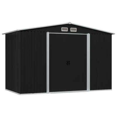 vidaXL Gerätehaus »vidaXL Geräteschuppen Anthrazit Stahl 257x205x178 cm«