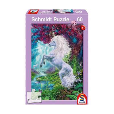 Schmidt Spiele Puzzle »Puzzle, 60 Teile, 36x24 cm, Einhorn im«, Puzzleteile