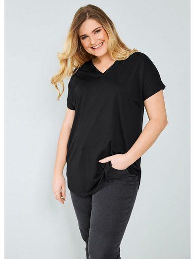 Sara Lindholm by Happy Size Shirt mit Blende