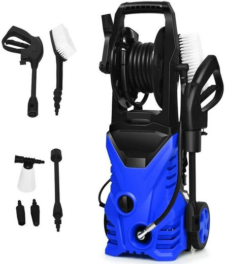 COSTWAY Dampfreiniger Hochdruckreiniger, 1500 Watt, 140 bar, 5 L/Min, 1500W, Wassertemperatur 0-40℃, Blau