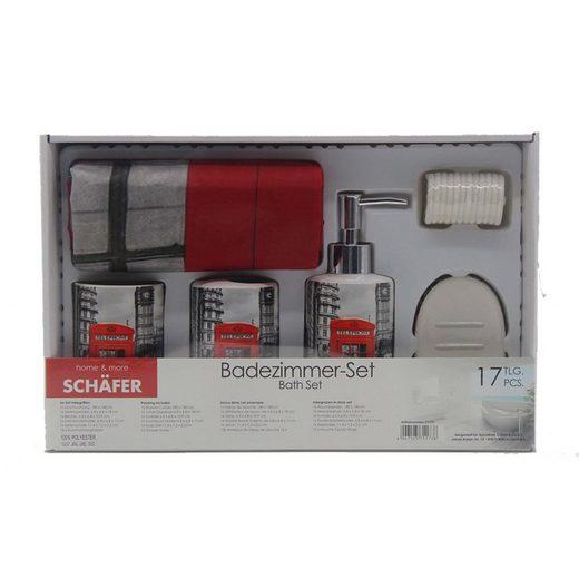Schäfer Seifenspender »Badezimmer-Set 17-teilig Telephone London«, (17-tlg)