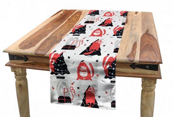 Abakuhaus Tischläufer »Esszimmer Küche Rechteckiger Dekorativer Tischläufer«, Winter Katzen Vorbereitung auf Weihnachten