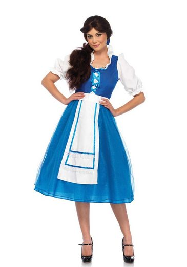 24costumes Kostüm »Storybook Village Beauty - Groesse: M - Farbe: Blue, White«