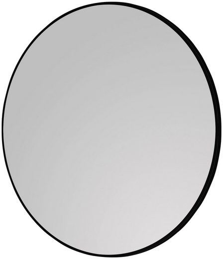 TALOS Komplett-Set: Spiegel »Black Circle«, matt schwarzer Aluminiumrahmen