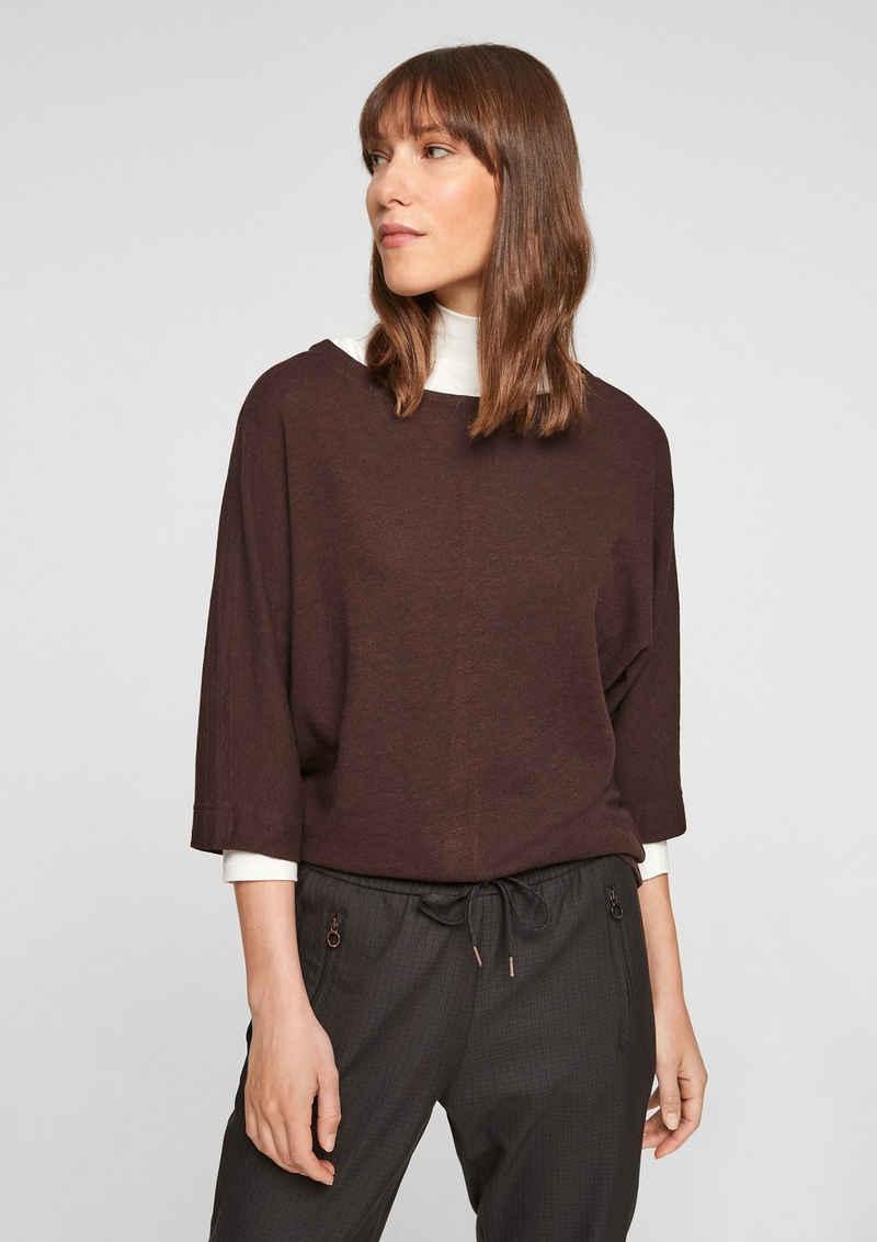 s.Oliver 3/4-Arm-Shirt »Jerseyshirt mit Fledermausärmel« (1-tlg)