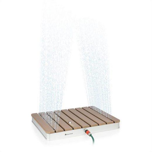 blumfeldt Gartendusche »Sumatra Breeze SQ Gartendusche WPC Aluminium 70x55cm eckig«, Wasser-, Frost- und UV-beständige Oberfläche