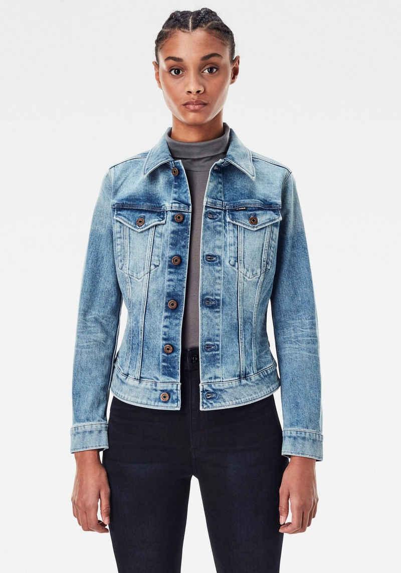 G-Star RAW Jeansjacke »3301 Slim Jacke« Western-Brusttaschen mit Ösenknöpfen