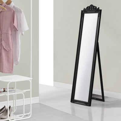 en.casa Standspiegel, »Arezzo« Ganzkörperspiegel kippbar 160x40cm schwarz