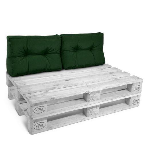 Beautissu Sitzkissen »ECO Style«, 2 Palettenkissen Rücken 60x40x20cm