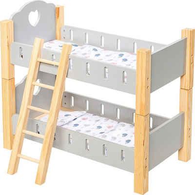 myToys Puppenbett »Holz Puppenetagenbett«