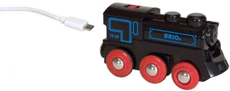 BRIO® Spielzeug-Eisenbahn »BRIO® WORLD Schwarze Akkulok mit Mini USB«, FSC® - schützt Wald - weltweit