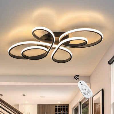 ZMH LED Deckenleuchte »Deckenlampe Modern 65W Dimmbar mit Fernbedienung Kreative in Schmetterlingforming«