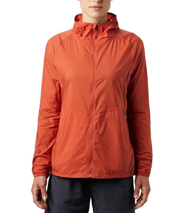 Mountain Hardwear Outdoorjacke »MOUNTAIN HARDWEAR Kor Preshell Hoody Kapuzen-Jacke atmungsaktive Sport-Jacke für Damen Freizeit-Jacke Dunkel-Orange«