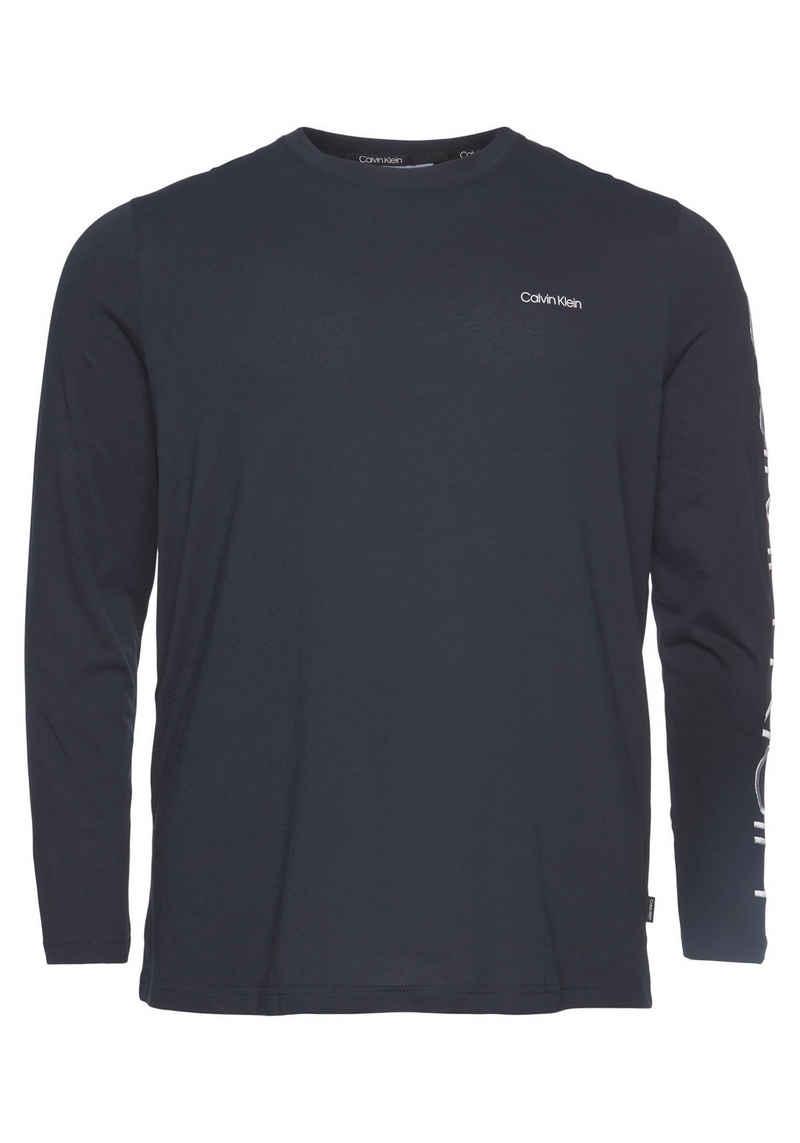 Calvin Klein Big&Tall Langarmshirt »BT-LOGO LONG SLEEVE T-SHIRT«
